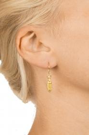 Betty Bogaers | 14k verguld gouden oorbellen Fish Hook | Gold | Afbeelding 3