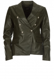 Set |  Leather jacket Jocelyn | green  | Picture 1