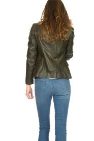 Set |  Leather jacket Jocelyn | green  | Picture 5