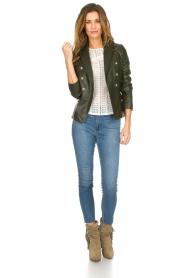 Set |  Leather jacket Jocelyn | green  | Picture 3
