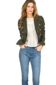 Set |  Leather jacket Jocelyn | green  | Picture 2