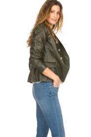 Set |  Leather jacket Jocelyn | green  | Picture 4