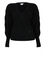 Dante 6 |  Knitted ajour sweater Sylias | black  | Picture 1