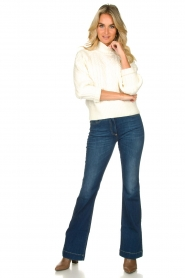 Nenette |  Flared jeans Sentinel | blue  | Picture 3