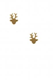 14k plated gold earrings Reindeer | gold