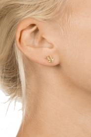 Betty Bogaers | 14k verguld gouden oorbellen Reindeer | goud  | Afbeelding 3