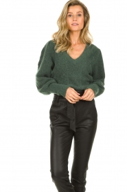Dante 6 |  Knitted ajour sweater Sylias | green  | Picture 2