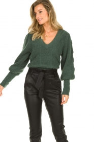 Dante 6 |  Knitted ajour sweater Sylias | green  | Picture 4