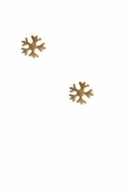14k plated gold earrings Snowflake | gold