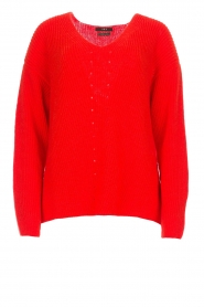 Set |  Knitted sweater Serena | red  | Picture 1