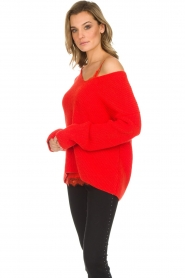 Set |  Knitted sweater Serena | red  | Picture 4