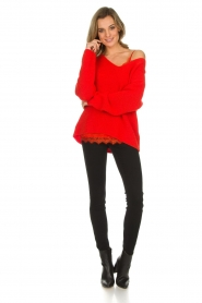 Set |  Knitted sweater Serena | red  | Picture 3