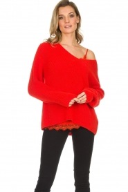 Set |  Knitted sweater Serena | red  | Picture 2