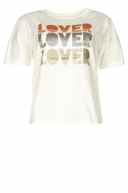 Kocca |  T-shirt with text print Poetry | white  | Picture 1