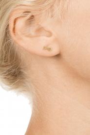 Betty Bogaers | 14k verguld gouden oorbellen Shooting Star | goud  | Afbeelding 3