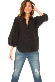Set |  Poplin blouse Kiki | black  | Picture 2