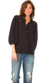 Set |  Poplin blouse Kiki | black  | Picture 4