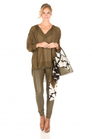 By Malene Birger |  Loose fitted blouse Bolivian | green  | Picture 3