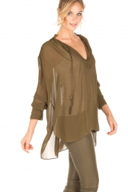 By Malene Birger |  Loose fitted blouse Bolivian | green  | Picture 4