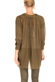 By Malene Birger |  Loose fitted blouse Bolivian | green  | Picture 5