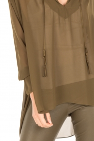By Malene Birger |  Loose fitted blouse Bolivian | green  | Picture 6