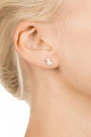 Betty Bogaers | 925 sterling zilveren oorbellen Pineapple | zilver  | Afbeelding 3