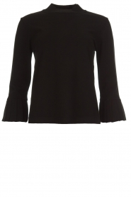 Set |  Sweater with pleated trumpet sleeves Lies | black  | Picture 1