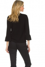 Set |  Sweater with pleated trumpet sleeves Lies | black  | Picture 6
