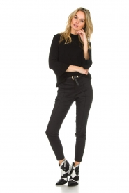 Set |  Sweater with pleated trumpet sleeves Lies | black  | Picture 3