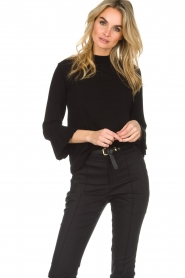 Set |  Sweater with pleated trumpet sleeves Lies | black  | Picture 2