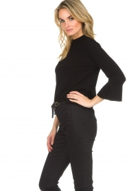 Set |  Sweater with pleated trumpet sleeves Lies | black  | Picture 5