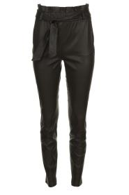 Dante 6 |  Leather paperbag pants Duncan | black  | Picture 1