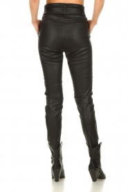 Dante 6 |  Leather paperbag pants Duran | black  | Picture 6