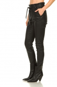 Dante 6 |  Leather paperbag pants Duran | black  | Picture 5