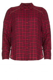 Kocca |  Checkered blouse Changa | red  | Picture 1