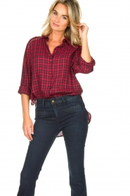 Kocca |  Checkered blouse Changa | red  | Picture 6