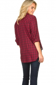 Kocca |  Checkered blouse Changa | red  | Picture 4