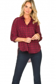 Kocca |  Checkered blouse Changa | red  | Picture 2