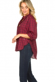 Kocca |  Checkered blouse Changa | red  | Picture 3