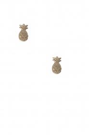 Betty Bogaers | 14k verguld gouden oorbellen Pineapple | goud  | Afbeelding 2