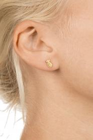 Betty Bogaers | 14k verguld gouden oorbellen Pineapple | goud  | Afbeelding 3