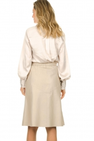 Dante 6 | Leren rok Reid | naturel  Leather skirt Reid | natural  | Picture 5