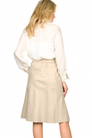 Dante 6 | Leren rok Reid | naturel  Leather skirt Reid | natural  | Picture 6
