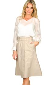 Dante 6 | Leren rok Reid | naturel  Leather skirt Reid | natural  | Picture 2