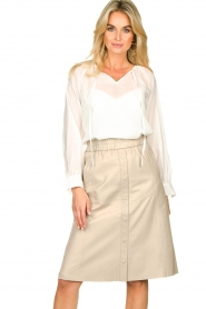 Dante 6 | Leren rok Reid | naturel  Leather skirt Reid | natural  | Picture 4