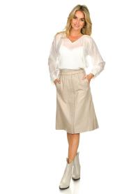 Dante 6 | Leren rok Reid | naturel  Leather skirt Reid | natural  | Picture 3