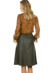 Dante 6 |  Leather skirt Reid | green  | Picture 5
