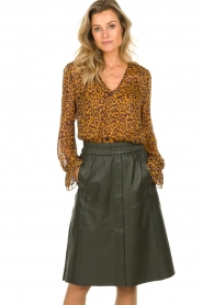 Dante 6 |  Leather skirt Reid | green  | Picture 2