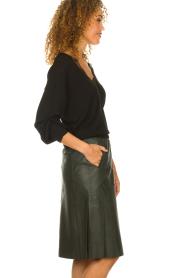Dante 6 |  Leather skirt Reid | green  | Picture 5