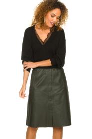 Dante 6 |  Leather skirt Reid | green  | Picture 4